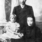 [:uk]М. Леонтович з дружиною і донькою Галиною[:]