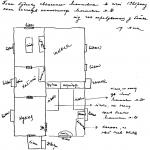 [:uk]Малюнок сестри Леонтовича із розміщенням кімнат у будинку, в якому загинув композитор[:]