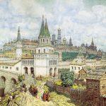 [:uk]Розквіт Кремля. Всехсвятський міст та Кремль наприкінці XVII ст. Рис. Аполінарія Васнецова.[:]